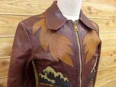 RARE VINTAGE 1970s EAST WEST Musical Instruments SEVEN ARROWS LEATHER JACKET