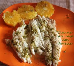 Branzino al forno al arancia, ricetta
