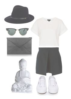 """""""Breathe"""" by no567 ❤ liked on Polyvore featuring Thierry Mugler, Topshop, Superga, Pineider, Ray-Ban and rag & bone"""