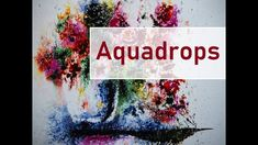 Aquarell Aquadrop Blumenvase - Flowers with water and aquadrop Starter Set, Water, Flowers, Painting, Videos, Youtube, Vase Of Flowers, Gripe Water, Painting Art