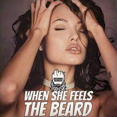 Yup, your facial expression when you felt my beard😛🍪, 😁😁😁. Great Beards, Awesome Beards, Angelina Jolie, Beard King, Beard Quotes, Beard Game, Beard Humor, Beard Lover, Beard Tattoo
