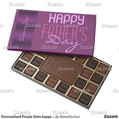 Personalised Purple Satin happy Fathers day
