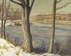 """""""The Old Elm,"""" Edward W. Redfield, 1906, oil on canvas, 32 1/4 x 40 3/8"""", Pennsylvania Academy of the Fine Arts."""