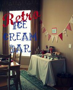 Moore Minutes: Retro Ice Cream Sundae Bar {surprise}