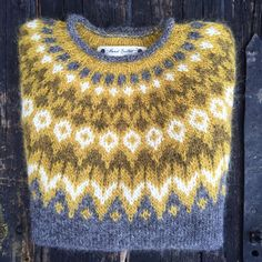 """I've finished the for in Järbo Garn AB It just has to get dry after washing. Fair Isle Knitting Patterns, Knit Patterns, Icelandic Sweaters, Nordic Sweater, How To Purl Knit, Knitting Accessories, Knitting Projects, Baby Knitting, Bunt"