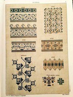 Costumul Romanesc - Румынский нар.. Folk Embroidery, Embroidery Patterns, Cross Stitch Patterns, Romania People, Palestinian Embroidery, Costume Patterns, Folk Art, Needlework, Sewing