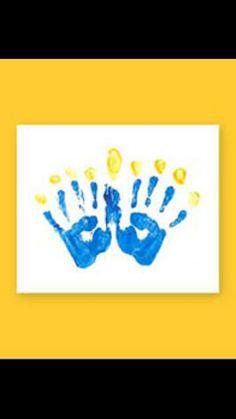 Chanukah handprint menorah ♡