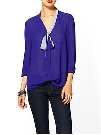 MADEMOD | Tinley Road Contrast Bow Blouse | Piperlime
