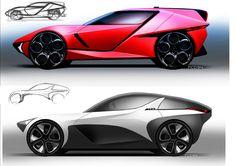 Car design Side views FCD94