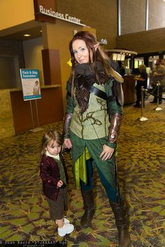 Bilbo Baggins and Tauriel | Amazing Arizona Comic Con 2014 #cosplay