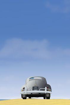 VW Beetle Vector HD wallpaper for iPhone