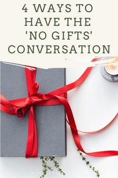 The holidays and gifts can be difficult if you're trying to live more minimally or consciously. These are some of my tips on how to talk to family and friends about gift giving and help with unwanted gifts. Waste Reduction, Charity Organizations, Experience Gifts, Green Christmas, Minimalist Living, Decluttering, Zero Waste, Giving, Save Energy