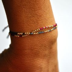 Image of 14k yellow gold friendship bracelet