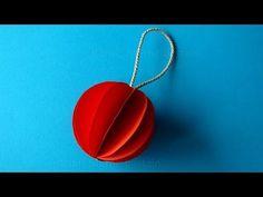 Nous faisons des Décorations de Noël: Boule de Noël en papier - Bricolage de Noël. - YouTube