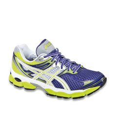 Take a look at this Purple & Lime GEL-Cumulus14 Running Shoe - Women by ASICS on #zulily today!