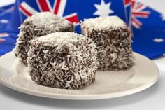 Australian Lamingtons Cake Food Stock Image - Image of baking, cook: 23620017 Aussie Food, Australian Food, New Zealand Food And Drink, Famous Desserts, Cake Dip, Middle East Food, Australia Day, Jamaican Recipes, English Food