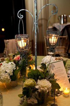 lantern centerpiece-paint white