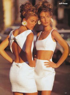 Elaine and Karen Mudler by Patrick Demarchelier, 1991