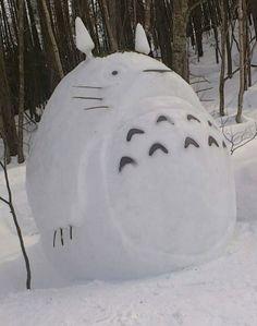 Totoro snowman cute