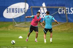Sing for your supper: Chelsea's trio of new signings treated to dinner #dailymail