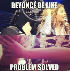 Beyonce is very clever.. problemed solved