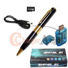 8GB HD Spy Pen Camera DVR Audio Video Recorder Camcorder Mini DV 1280*960 Gold