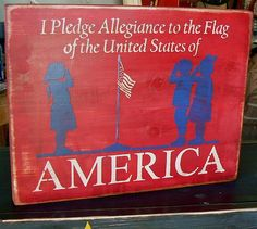 I Pledge Allegiance to the Flag America by tinkerscottage on Etsy, $18.00
