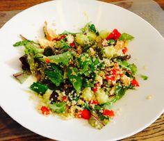 Quinoa salade met meloen en gerookte kipfilet (glutenvrij) - Miss Glutenvrij