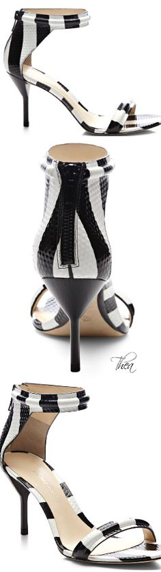 Phillip Lim ● Resort 2015, Black And White Mid Heel Sandal. BellaDonna