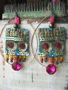 Fabric, Sequins & Beads