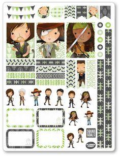 Dead Walking Decorating Kit PDF PRINTABLE Planner Stickers