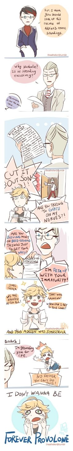 Omg. These two I swear. (Miraculous Ladybug, Adrien, Gabriel)