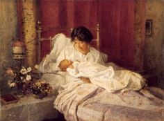 A Mother And Her Baby (Carlton Alfred Smith - 1916)