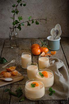 Mousse de Mandarinas {en vasitos} | Clementines Mousse {in jars}  http://saboresymomentos.es