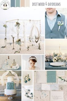 Driftwood and Daydreams – Beach Wedding Inspiration in Shades of Blue and Frosted Sea Glass
