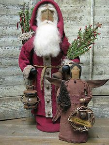 How great does this Santa look? Primitive Santa, Primitive Folk Art, Primitive Crafts, Primitive Christmas, Country Christmas, Father Christmas, Christmas Stuff, Christmas Ideas, Xmas