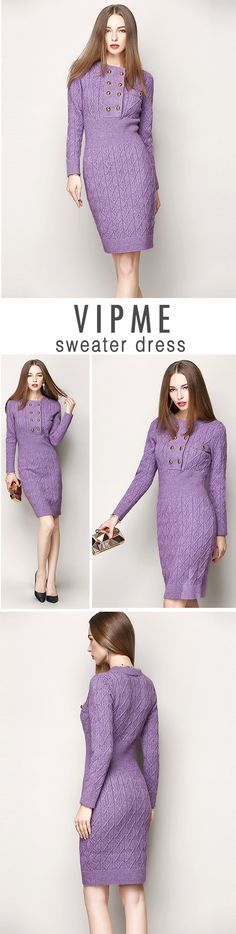 Stand out from the crowd in a purple bodycon sweater dress. VIPme has a vast selection of affordable silk dresses that will give your wardrobe instant runway style. Our buyers scout out the latest fashions and work to bring them to you at great prices. Shop flash sales to get the best deals on apparel, handbags, shoes, lingerie and jewelry.