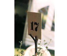Numeros en madera