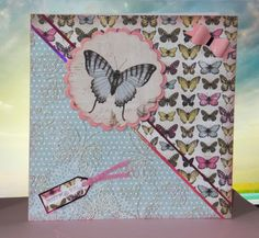 Made with the Craftwork Cards Botanica items. Craftwork Cards, Butterfly Cards, Card Making Inspiration, Big Shot, Craft Work, Handmade Cards, Cardmaking, Card Ideas, Craft Projects
