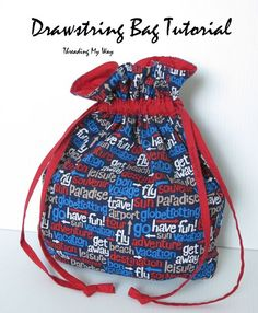 Drawstring Bag Tutorial ~ Threading My Way