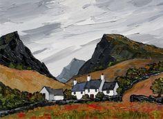 British Artist David BARNES-The Nantffrancon Pass