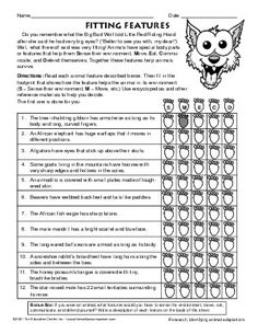 Printables Animal Adaptations Worksheets results for animal adaptations worksheet guest the mailbox life science pinterest a month change 3 and mailbo