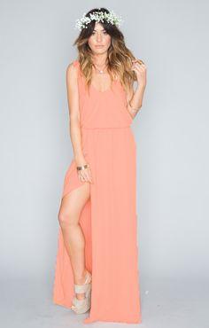 Kendall Maxi Dress ~ Soft Peach Crisp ~ Show Me Your Mumu