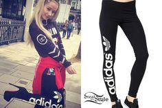 Iggy Azalea posted a photo on instagram yesterday wearing a pair of Women's Adidas Originals Trefoil Leggings ($30.00) with a Babylon Cartel Aztec Goalkeeper's Jersey ($120.00) and Christian Louboutin Daf Leather Platform Ankle Boots ($1,395.00).