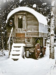 Gypsy Wagon in Snow by prwreden_98 on Flickr  Hell's Canyon   located along the border of eastern Oregon, eastern Washington and western Idaho in the United States