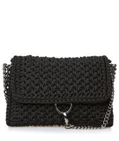Black Obsession Link Crochet Bag
