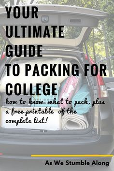 Packing for college can be super stressful if you let it, but it doesn't have to be! Here's a super thorough, yet simple guide of what you need to know, along with a printable of the most complete college packing list you'll find on the net!