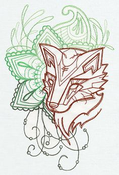 Anima - Fox | Urban Threads: Unique and Awesome Embroidery Designs
