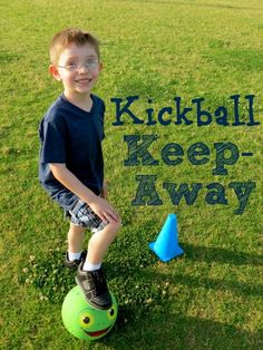 Stay active this summer with a soccer/kickball hybrid game from our guest blogger Joyce