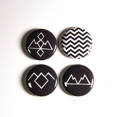 Twin Peaks Pinback Buttons Black Lodge Symbol by HeyButtonUp